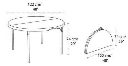 LIFETIME 라이프타임 다용도 원형 테이블 원탁 라운드형 접이식 ...