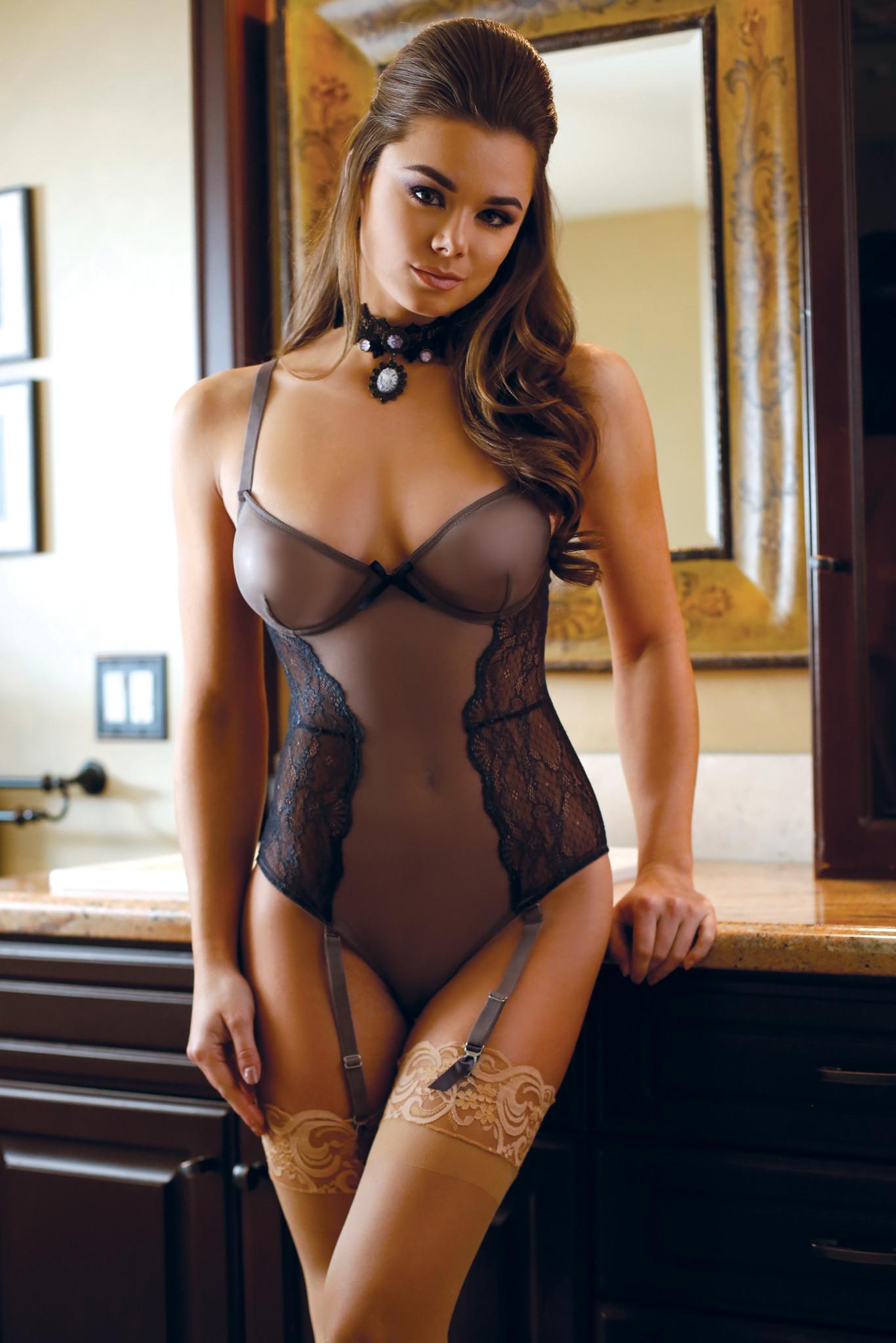 hot girl in see through lingerie